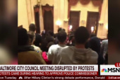 Protests disrupt Baltimore City Council...