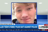Killed teen's family files suit against...