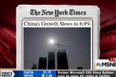 China's growth slows to six-year low