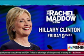 Clinton to join Maddow for interview Friday