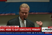 Jim Webb to quit Democratic primary