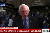 Bernie Sanders reacts to Joe Biden decision