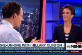 Clinton talks to MSNBC's Rachel Maddow