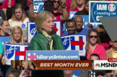 Why Clinton is having the best month ever