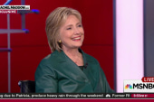 Clinton imagines mother's thoughts on hearing