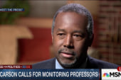 Carson: Use Dept. of Ed. to monitor...