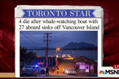 Four die after whale-watching boat sinks