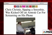 Christie reportedly asked to leave quiet car