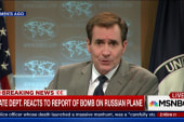 State Dept reacts to new Russian plane report