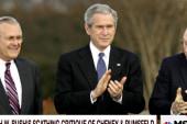 Bush, 41, tears into Cheney and Rumsfeld