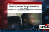 Carson under fire over West Point story