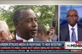 Carson under scrutiny, attacks media