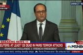 Hollande: 'deeply sad moment of time'