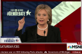 Hillary Clinton 'forced off script' during...