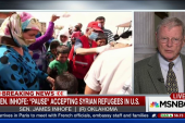 Inhofe Calls For 'Pause' on Syrian Refugees