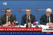 German officials on canceling match