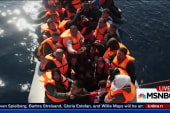 Refugees arrive in waves in Greece