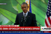 Obama hits 'tough' GOP for fearing 'orphans'