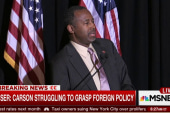 Will foreign policy curve sink Carson...