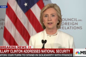 Clinton: US should stand in solidarity...