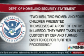DHS: Two Syrian families crossed US border