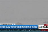Western snow threatens Thanksgiving travel