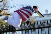 Spikes don't prevent jumper from WH lawn