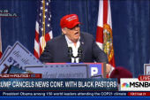 Trump cancels news conference with pastors
