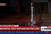 San Bernardino: Bomb disposal robot on scene