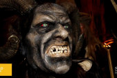 Village warns refugees about Krampus...