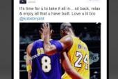 Kobe's tech-savvy retirement announcement