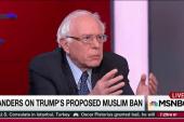 Sanders knocks Trump's scapegoating strategy