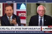 Sanders Rips Trump's Call to Bar Muslim...