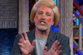 Jon Stewart does his best Donald Trump