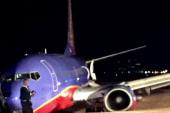 Passenger plane rolls of runway in Nashville
