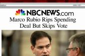 Rubio slammed over missing budget vote