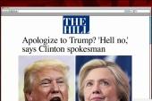 Hillary meets Trump's lie with a lie: But...