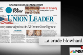 Trump goes to war with NH newspaper