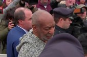 Bill Cosby leaves from arraignment