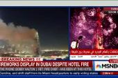 Fireworks display in Dubai despite hotel fire