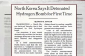 N. Korea claims to conduct hydrogen bomb test