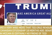 Trump resurrects 'birther' attack on Cruz
