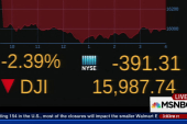 Dow down nearly 400 points at close