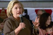 Clinton tackles 'dishonesty' question in...