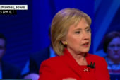 Clinton makes final pitch in Iowa