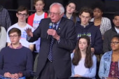 Sanders to student: Thanks, but you're wrong