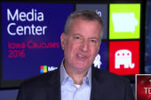 De Blasio: Clinton has most progressive...