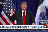 Trump on Cruz: 'what he did was a fraud'