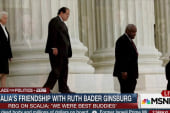 Scalia's friendship with Ruth Bader Ginsburg
