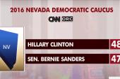 Clinton, Sanders locked in Nevada poll